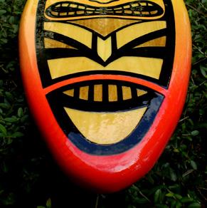 Fire Tiki Spoon Surfboard Wall Art Surf Hot Beach Decor